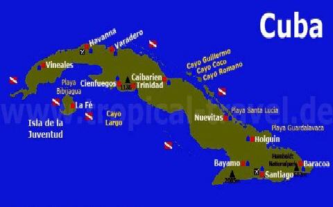 Karte Kuba Varadero.Kuba